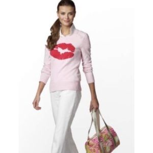 Lilly Pulitzer Cashmere Red Lips Sweater
